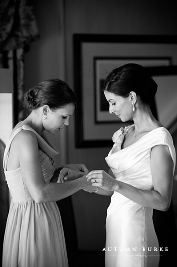 bridal preparations getting ready with maid of honor denver country club wedding colorado
