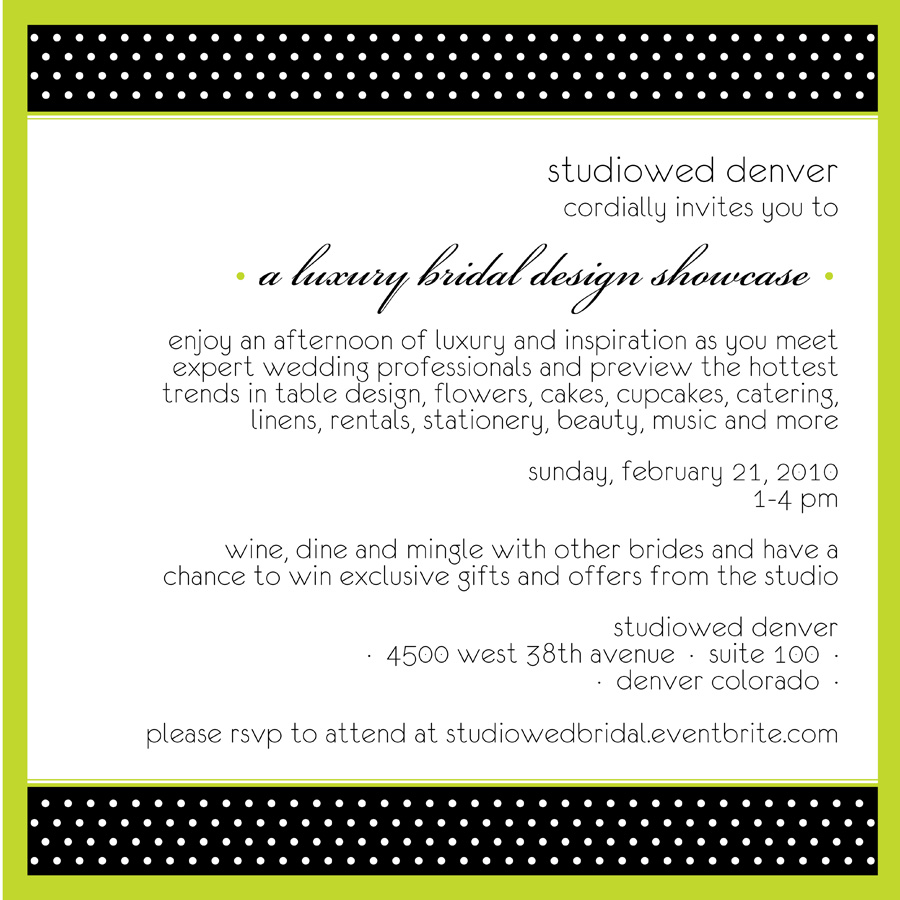 studiowed denver bridal showcase