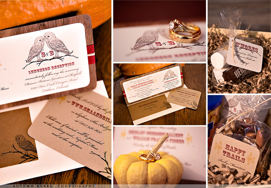 custom design fall wedding stationary