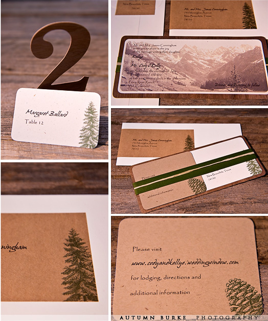 custom colorado mountain wedding stationary
