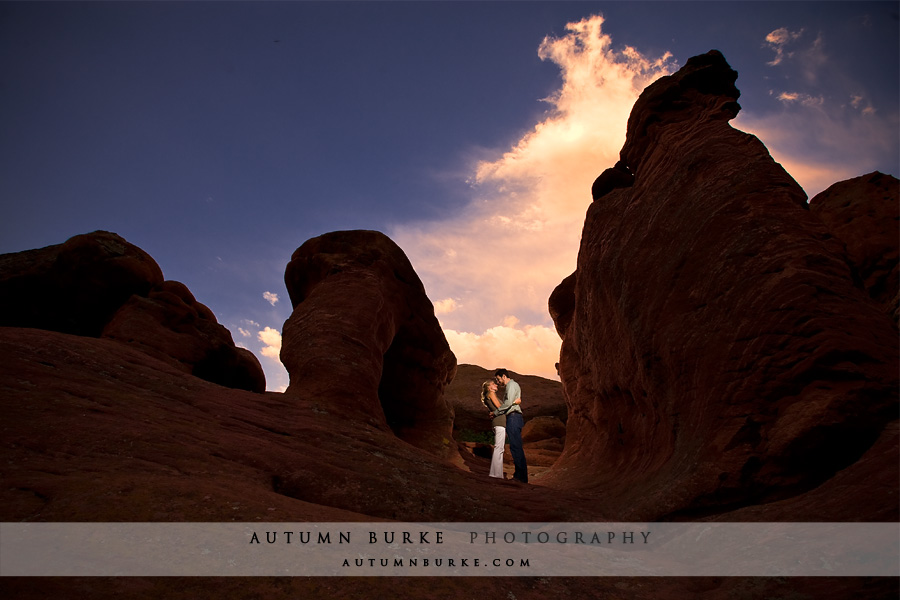 denver red rocks engagement session