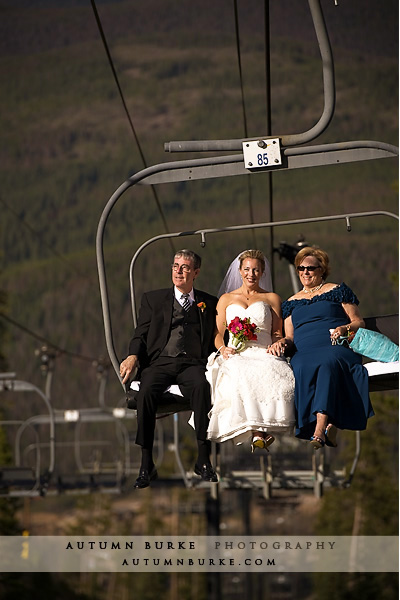 colorado bride ski lift winter park