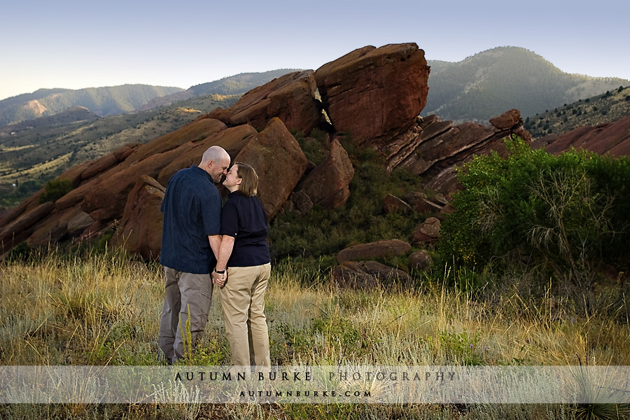 red rocks denver colorado engagement session