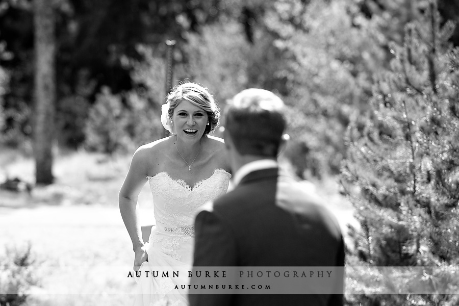first look keystone colorado wedding