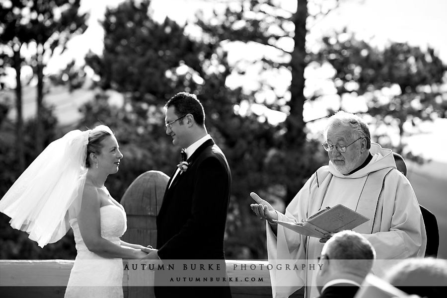winter park outdoor wedding ceremony