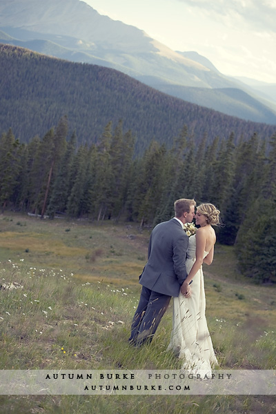 keystone colorado mountain wedding bride groom