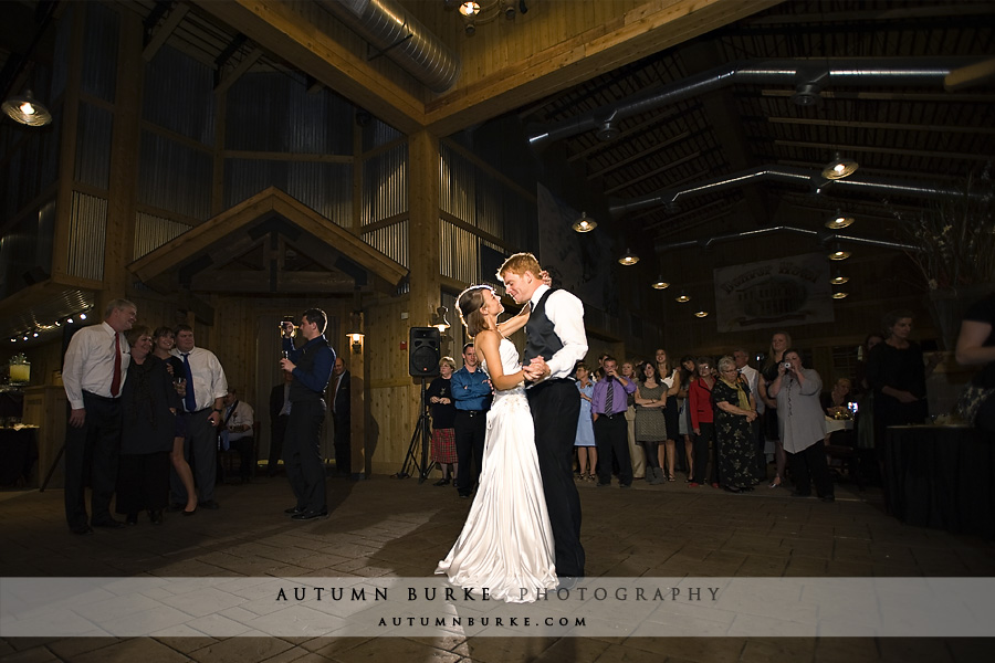 ten mile station breckenridge wedding first dance colorado