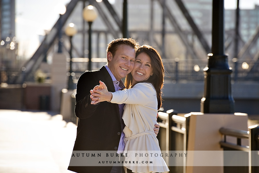 downtown denver wedding engagement portrait session