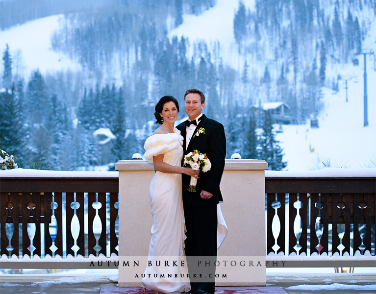 vail colorado arrabelle winter wedding