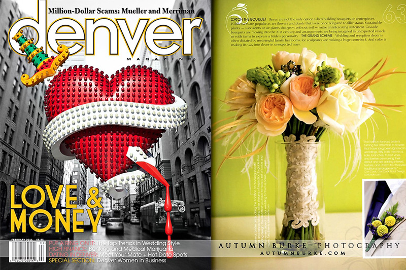 colorado wedding denver magazine feature vintage modern bouquet