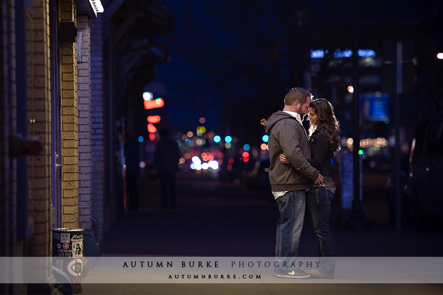 city lights colfax downtown denver wedding engagement portrait