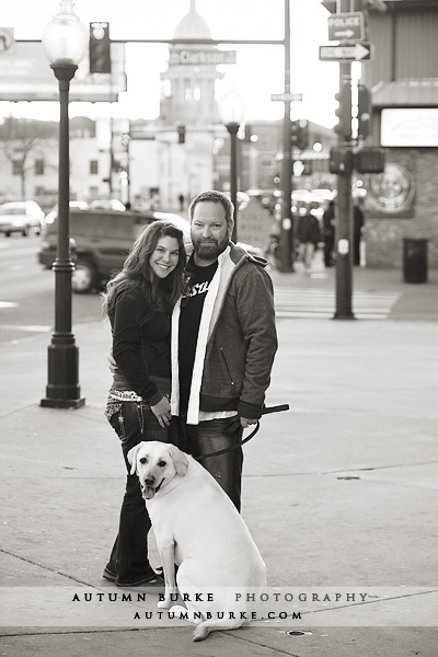denver colorado wedding engagement portrait dog