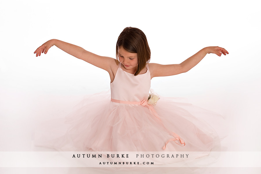 denver kids portrait girl pink ballerina
