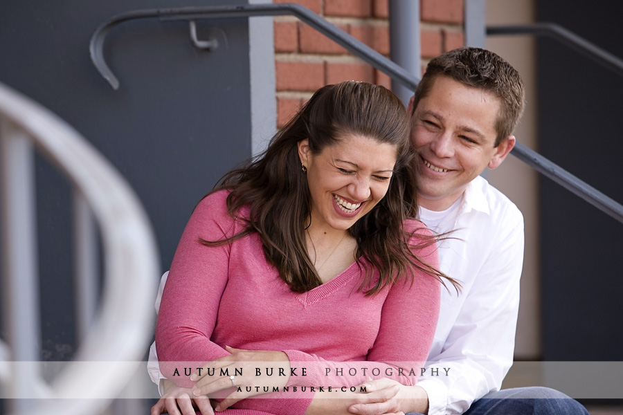 downtown denver lodo colorado urban engagement session portrait