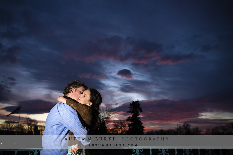city park denver engagement colorado sunset portrait