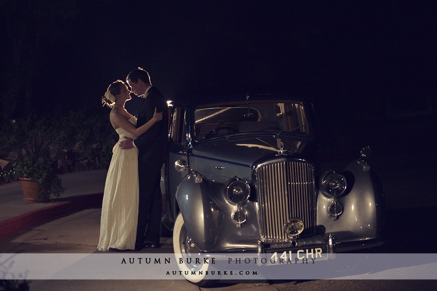 classic bride and groom colorado wedding vintage bentley