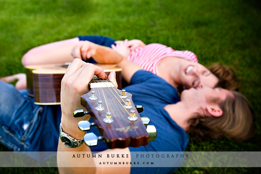 littleton colorado engagement portrait session guitar