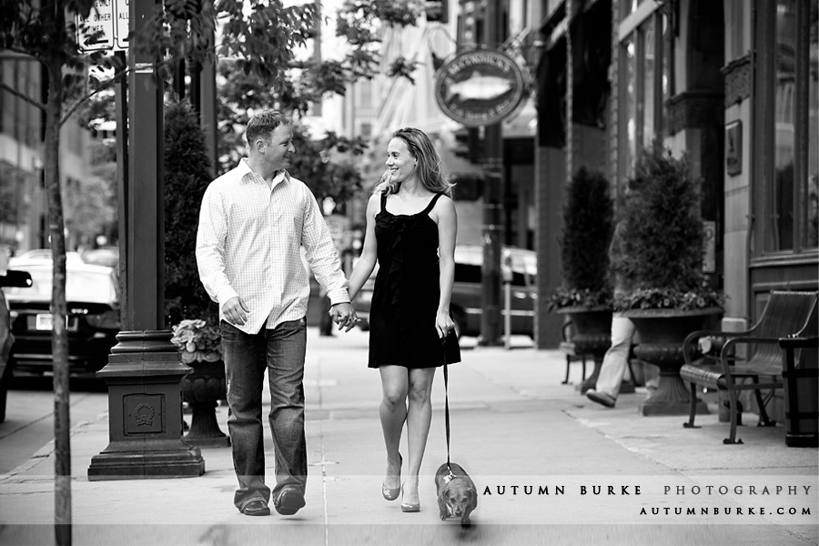 downtown denver colorado engagement portrait session with dog
