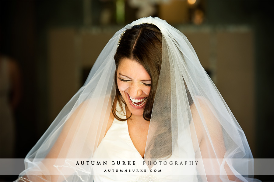 beautiful laughing bride estes park colorado wedding