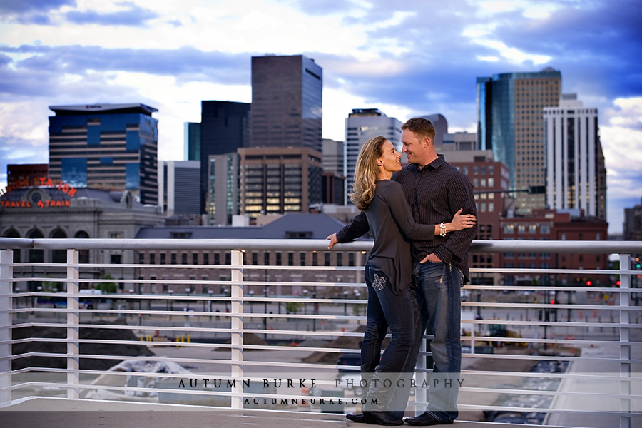 downtown denver lodo colorado skyline cityscape engagement portrait session