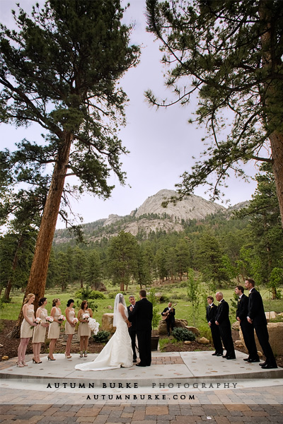 della terra estes park colorado mountain wedding ceremony