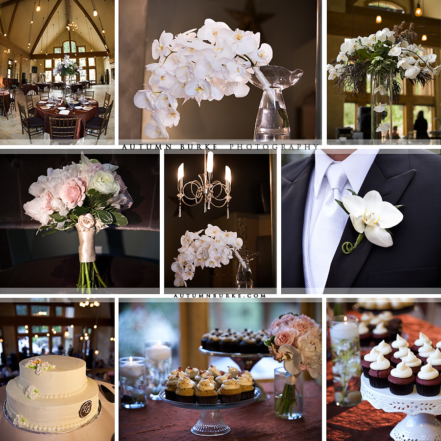 della terra estes park colorado wedding decor and floral design orchid bouquet happy cakes cupcakes