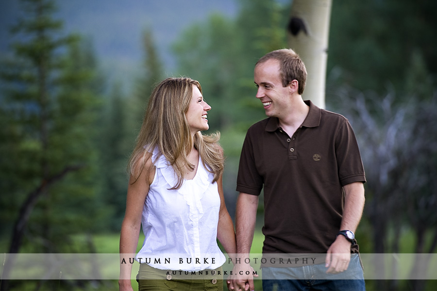 evergreen colorado mountain wedding engagement