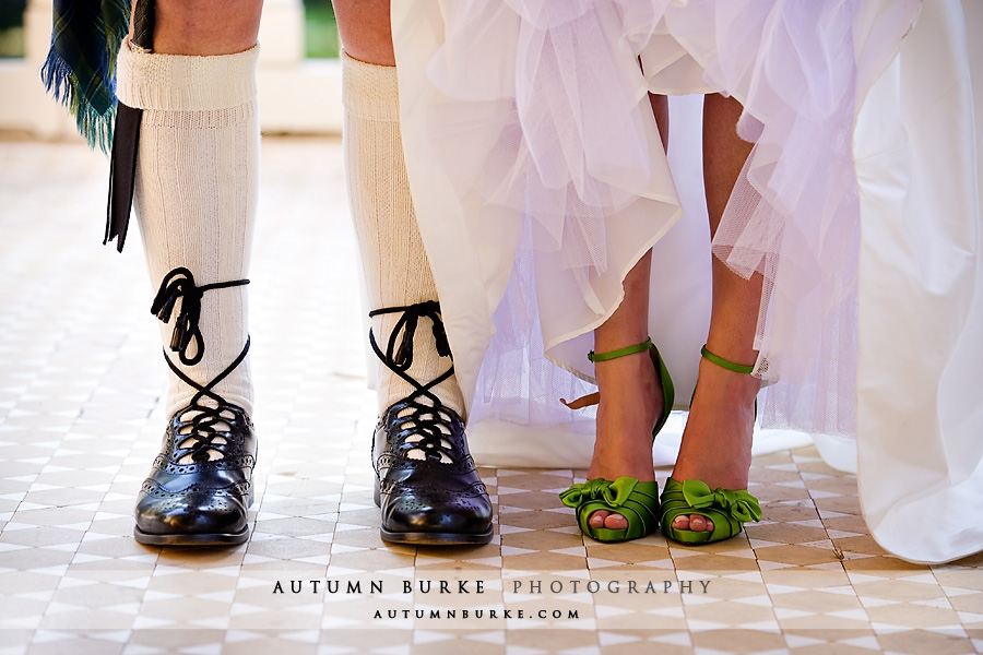 denver colorado wedding shoes green heels and scottish kilt