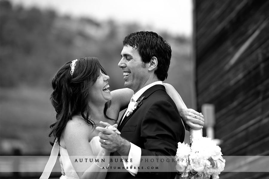 larkspur colorado spruce mountain ranch wedding couple laughter
