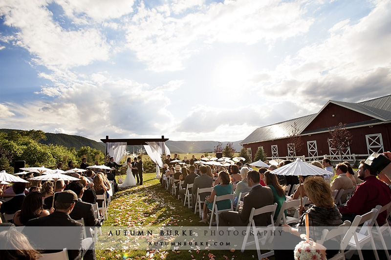 Crooked Willow Farms Wedding Ceremony Larkspur Colorado Barn Outdoors