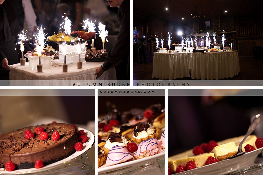 colorado wedding viennese dessert table sparklers