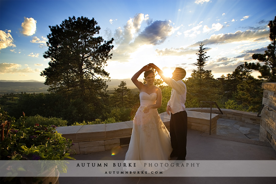 colorado sunset the sanctuary wedding colorado bride groom