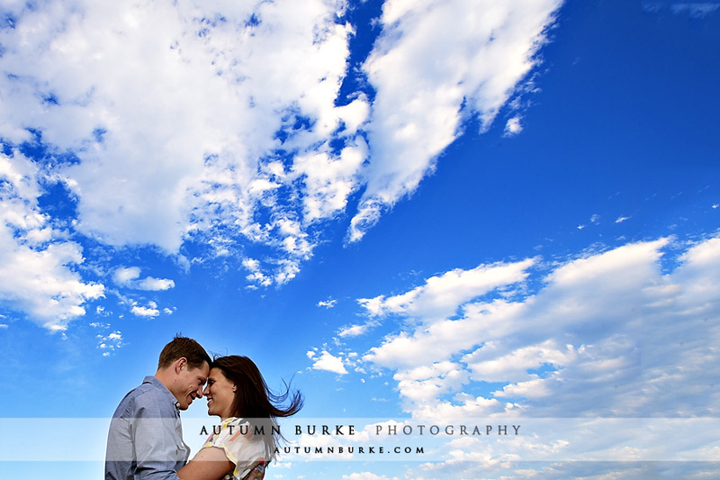 colorado bluebird sky wedding engagement session