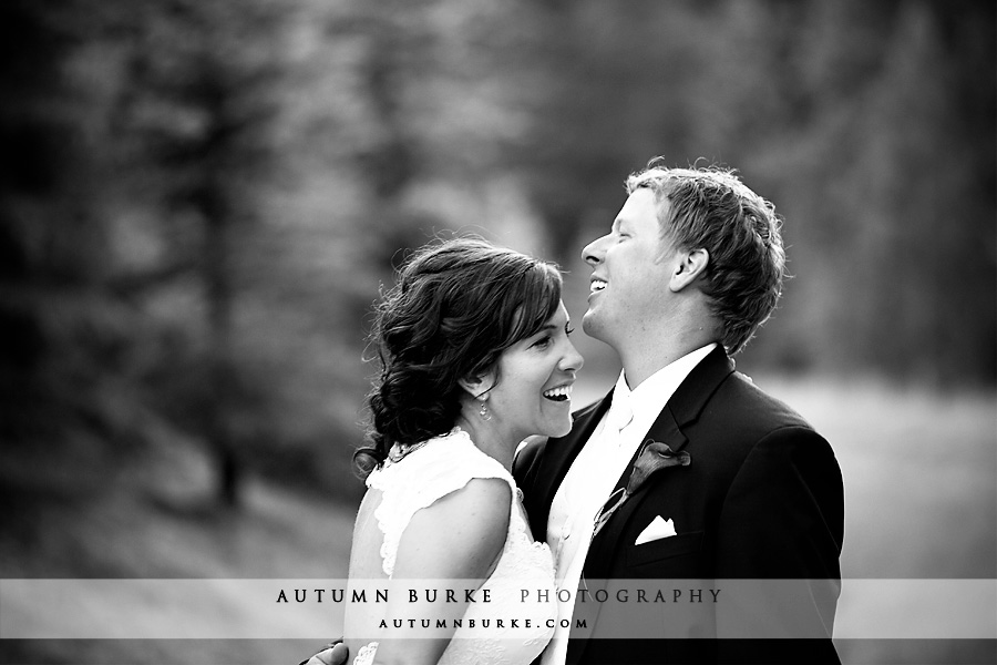 breckenridge wedding colorado bride and groom laughing
