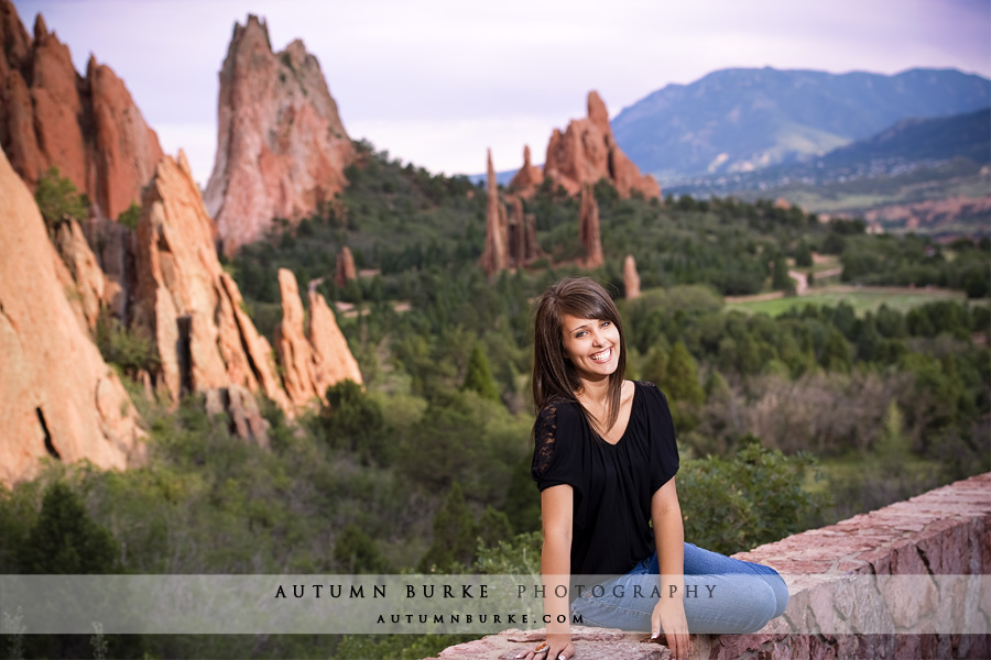 garden of the gods high school senior portrait colorado springs