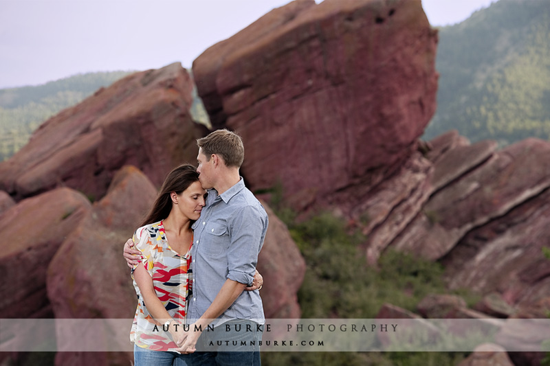 red rocks ampitheater denver colorado engagement portrait session