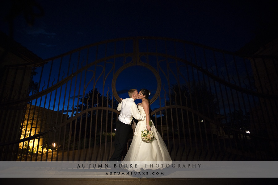 the sanctuary golf club wedding colorado bride groom gate