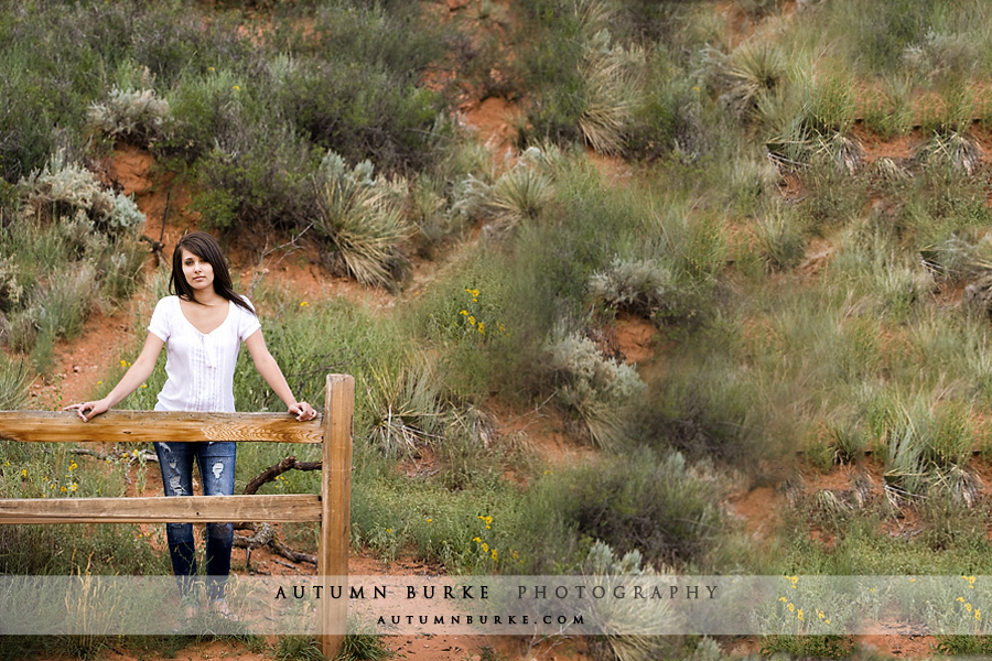 colorado springs high school senior portrait
