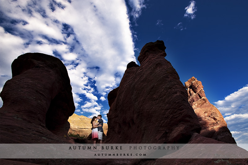 red rocks denver colorado wedding engagement portrait session