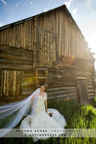 keystone ranch colorado bridal portrait wedding