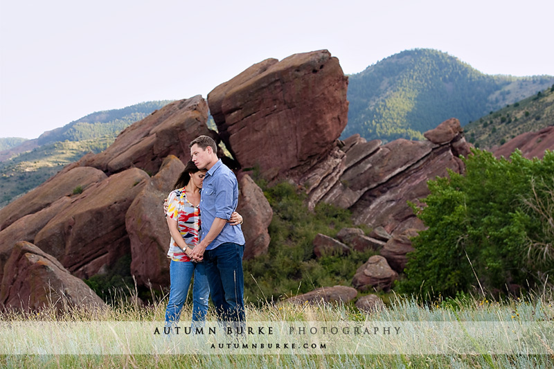 red rocks colorado wedding engagement portrait session