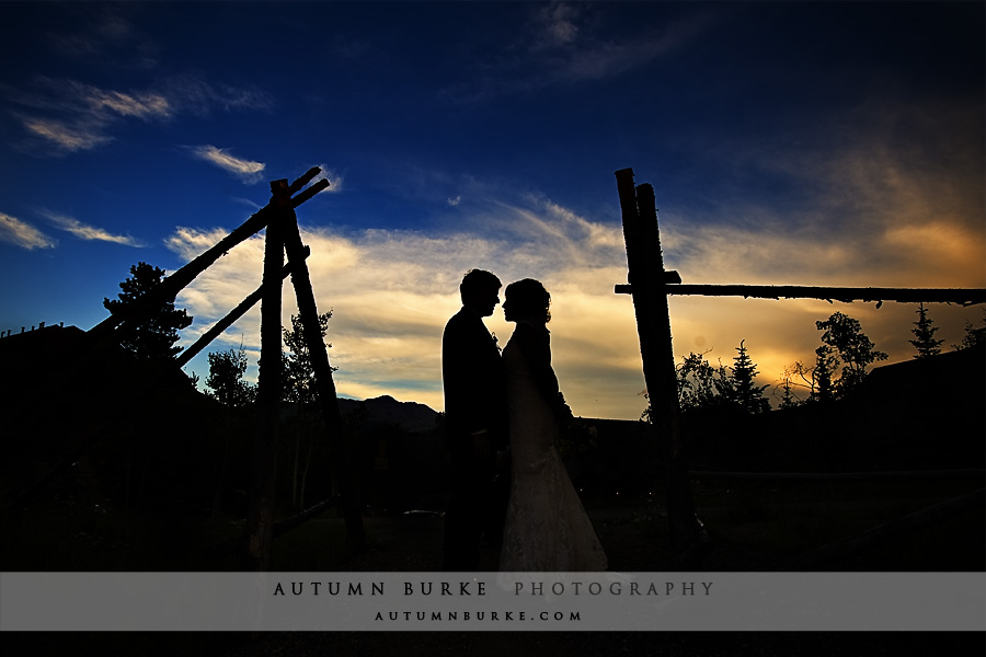 breckenridge colorado wedding mountain sunset