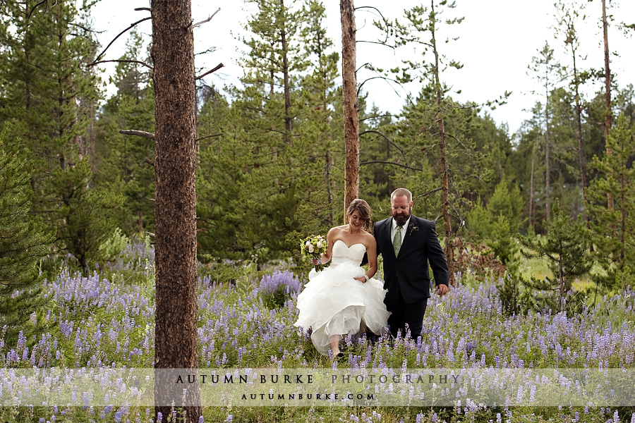 wild horse inn wedding winter park colorado tabernash wildflowers bride and groom