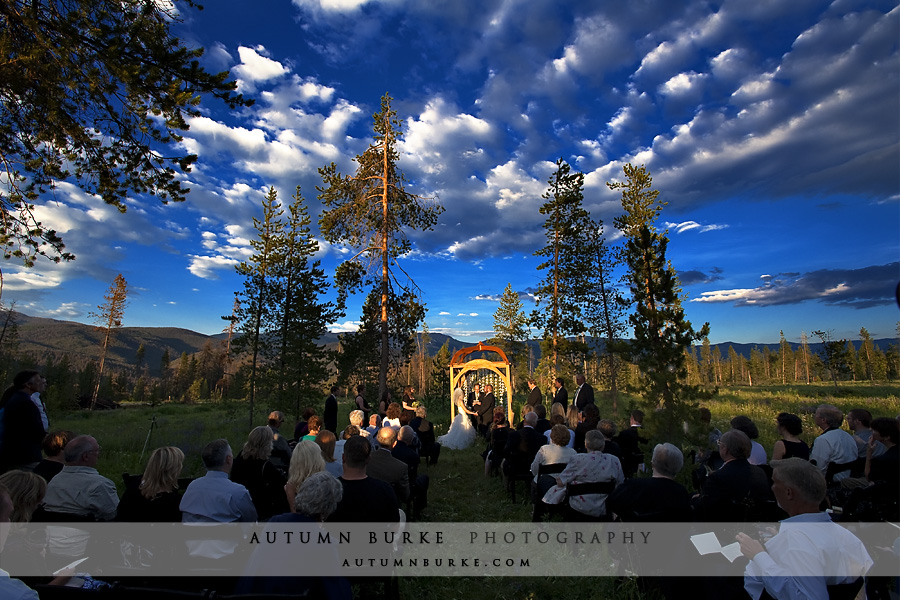 wild horse inn tabernash colorado mountain wedding ceremony outdoors