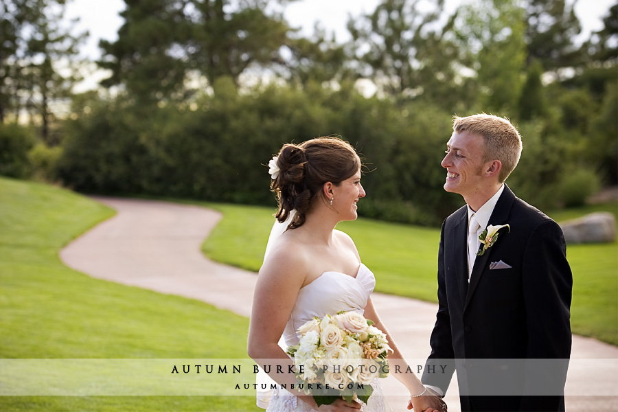 santuary golf club wedding outdoors colorado bride groom