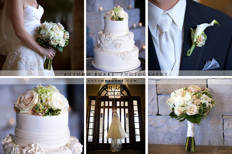 sanctuary colorado wedding details dress cake floral