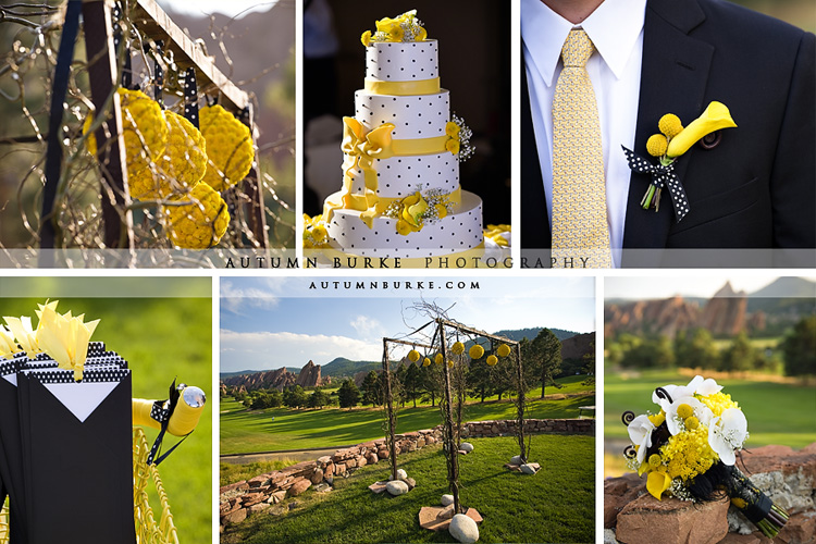 arrowhead colorado wedding yellow details inspiration boad