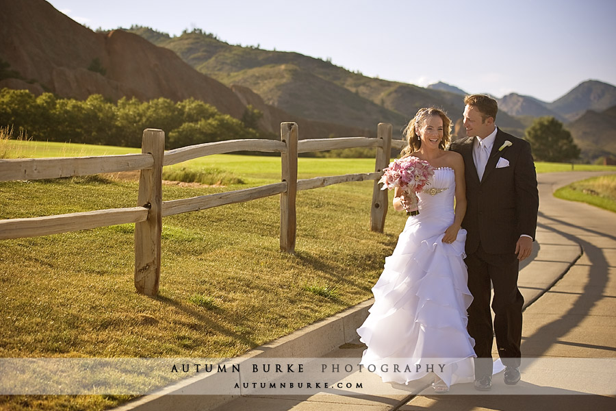 arrowhead golf colorado wedding first look bride groom