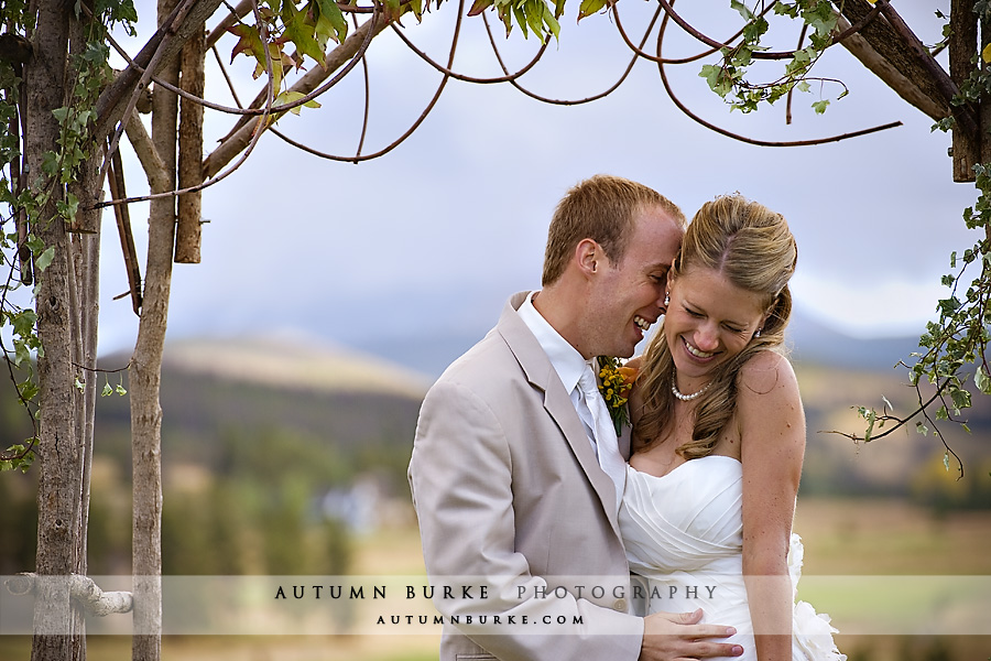 keystone ranch colorado mountain wedding bride groom
