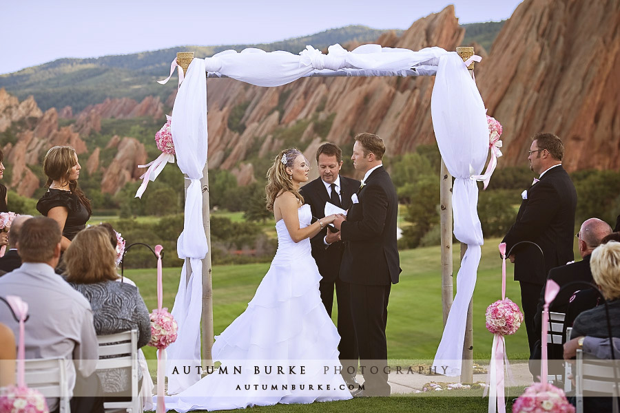 arrowhead golf club littleton colorado wedding ceremony colorado
